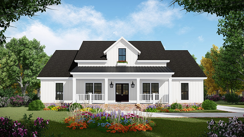 Country Three Bedroom House Plan