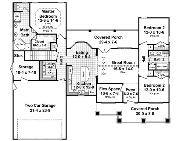 Cottage Style House Plan 5291 Westwood Park