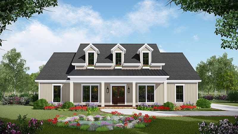 This Modern Farmhouse Plan Welcomes You With A Charming