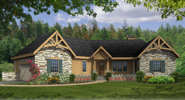 Greensboro iii c 4421 3 bedrooms and 2 baths the house for Rustic style house plans