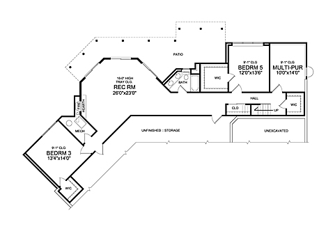 Winston 3 Car 5241 on house plans on sloping lots