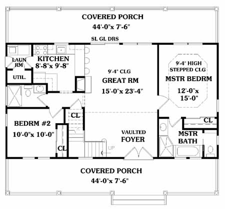 LAKESIDE   Bedrooms and   Baths   The House DesignersFirst Floor Plan
