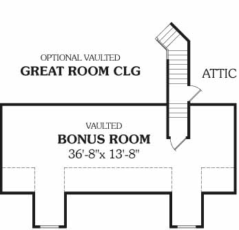 Bonus Room image of DELAFIELD House Plan