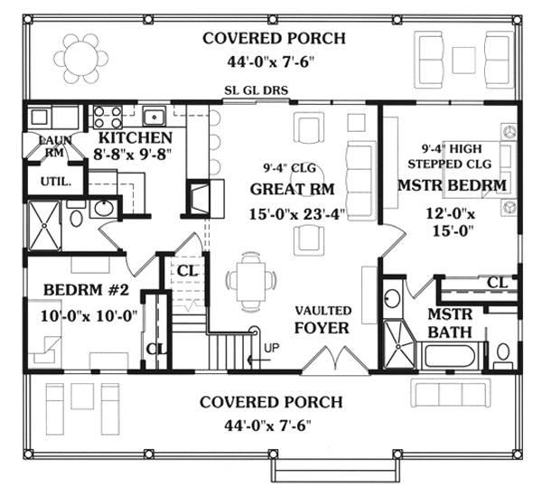 Lakeside 2 7731 4 bedrooms and 3 5 baths the house for Lakeside floor plan