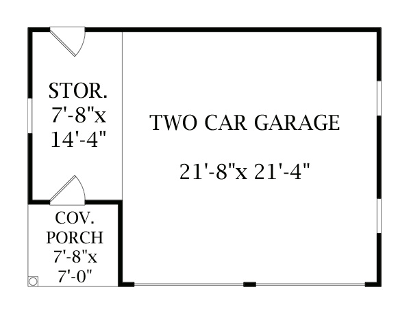 Floor Plan image of One Story Garage House Plan