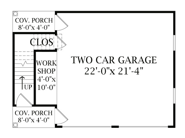 Two story garage 6332 the house designers for 2 story workshop plans