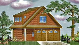 image of Two Story Garage House Plan