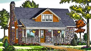 image of craftsman cottage house plan