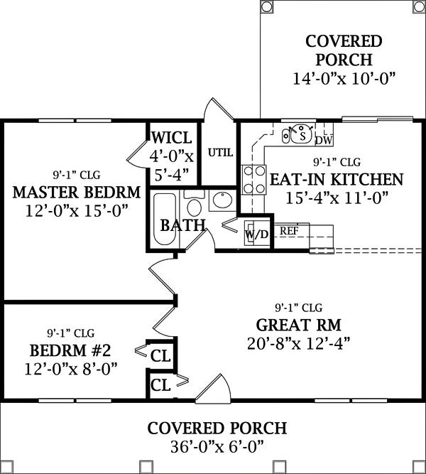 Country Cottage Country Recreation/Vacation Southern House Plan: