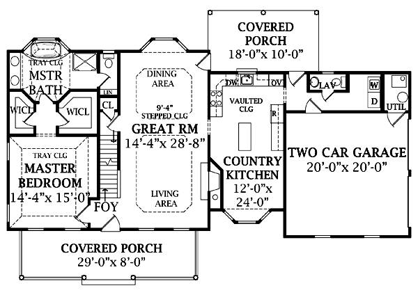 First Floor Plan image of LUDLOW  II House Plan
