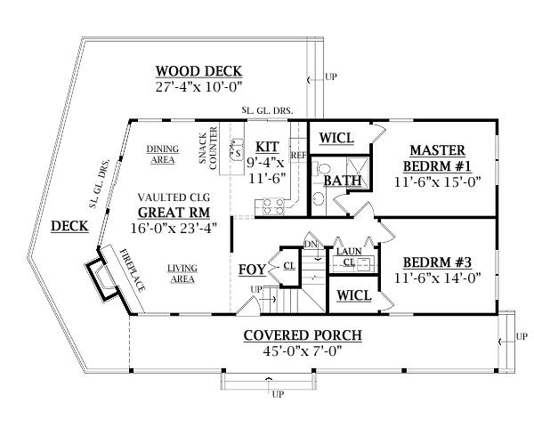 First Floor Plan image of CANDLEWOOD 2 House Plan