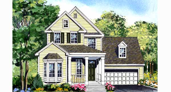 Fairfax narrow lot 3850 3 bedrooms and 2 baths the for Narrow corner lot house plans