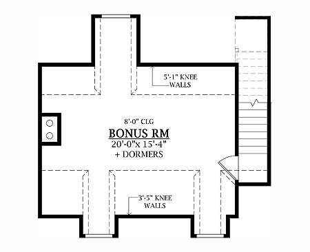 Lewistown 8338 3 bedrooms and 2 5 baths the house for 5 bedroom house plans with bonus room