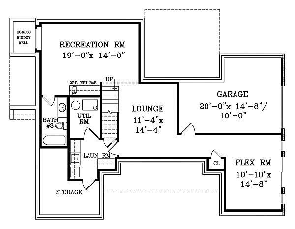 Walk-out Basement Plan