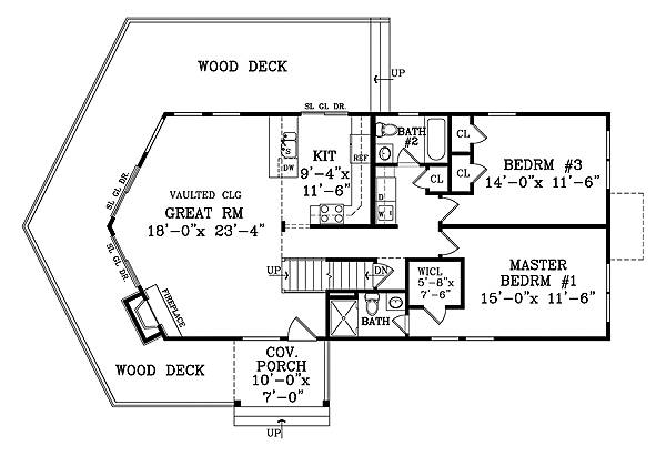 First Floor Plan image of CANDLEWOOD III House Plan