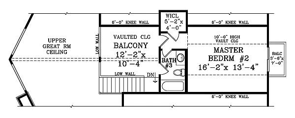 Second Floor Plan image of CANDLEWOOD III House Plan
