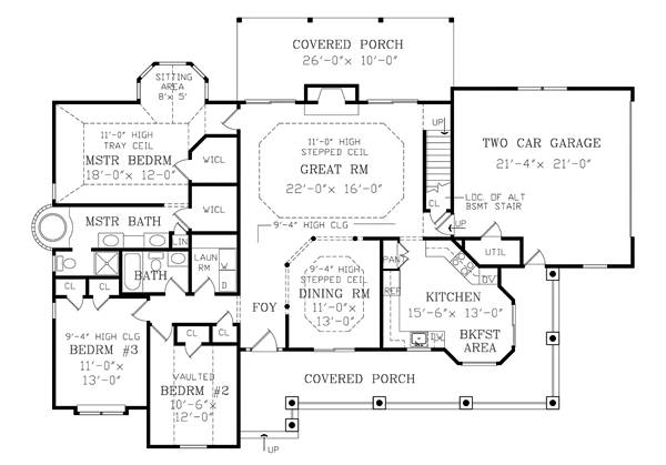 Richmond 2800 3 bedrooms and 2 5 baths the house designers 2800 square foot house plans