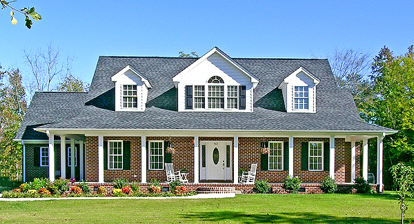 Raleigh 2802 3 bedrooms and 2 baths the house designers for Country house with wrap around porch