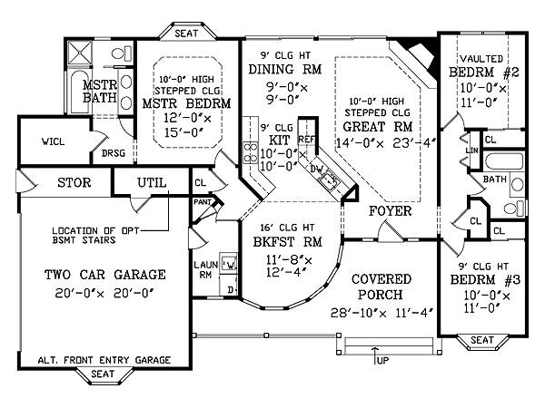 Retired Couple Finds Perfect Floor Plan  The House Designers - Esherick House Floor Plan