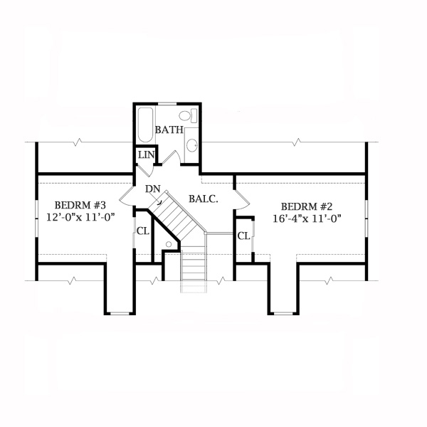 Second Floor Plan image of LAKEVIEW 2