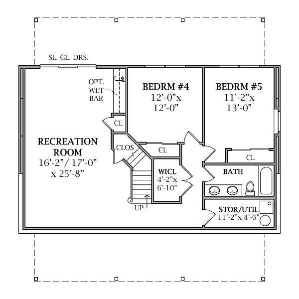 Lakeview 2804 3 bedrooms and 2 baths the house designers for Walkout basement floor plans