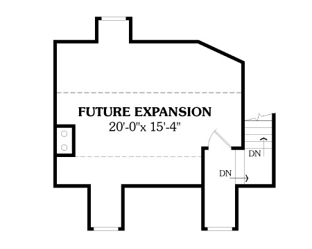 Second Floor Plan image of LEWISBURG RANCH House Plan