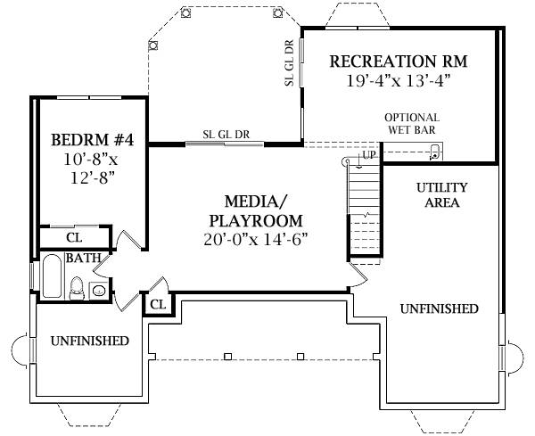 Optional Walk Out Basement Plan