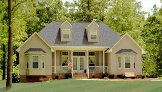 Country House Plans with Porches, Low French & English Home Plan