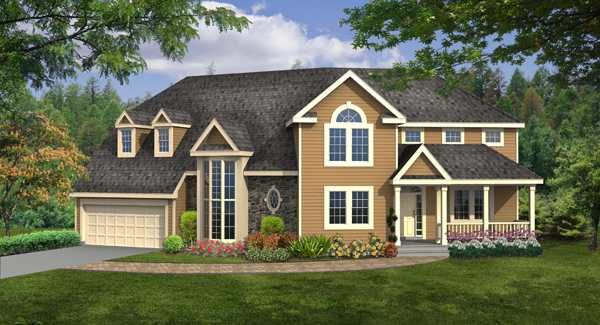WORTHINGTON 4392 - 4 Bedrooms and 2 Baths | The House Designers on riley home plan, ashby home plan, breckenridge home plan,