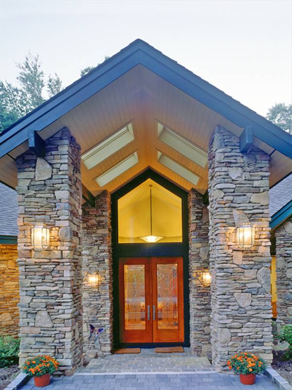 Stunning stone home designs the house designers for Stone house floor plans