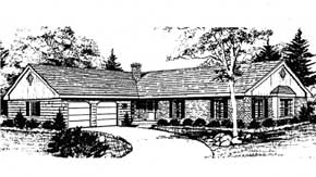 Front Rendering image of SUNNYDALE House Plan