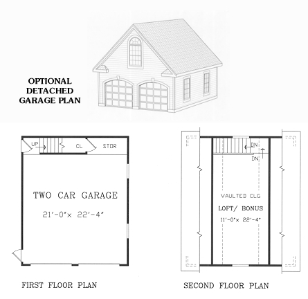 Garage Floor Plan image of CARNATION House Plan