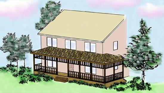 image of New Front Porch (P0013) House Plan