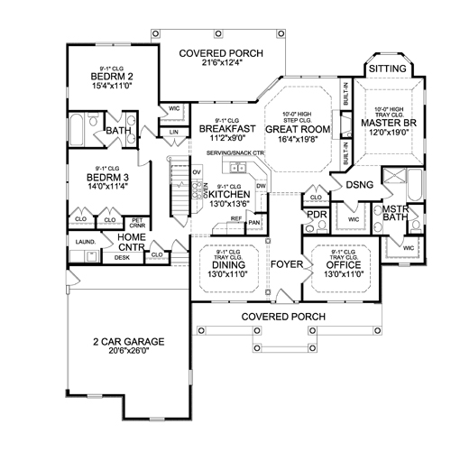 First Floor Plan image of STURBRIDGE II-C House Plan