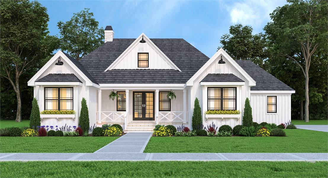 The front of THD-8794, our January 2021 featured home design