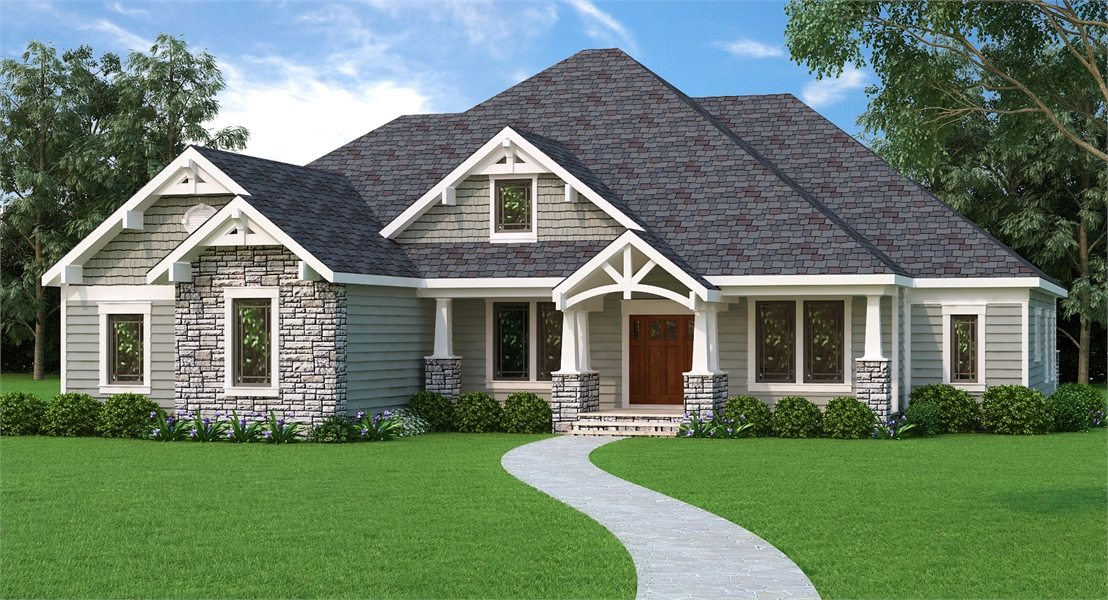 Family Style House Plan With Craftsman Home Plan Details