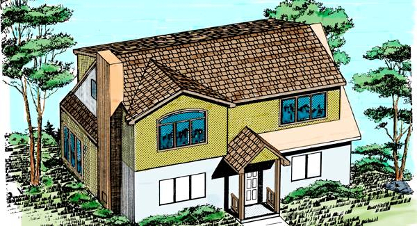 Add a second floor cap04 5179 the house designers for How to design a addition to your house