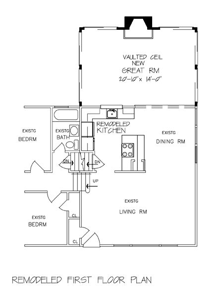 Ordinaire Remodeled First Floor Plan