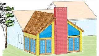 image of Great New Great Room (F0006) House Plan