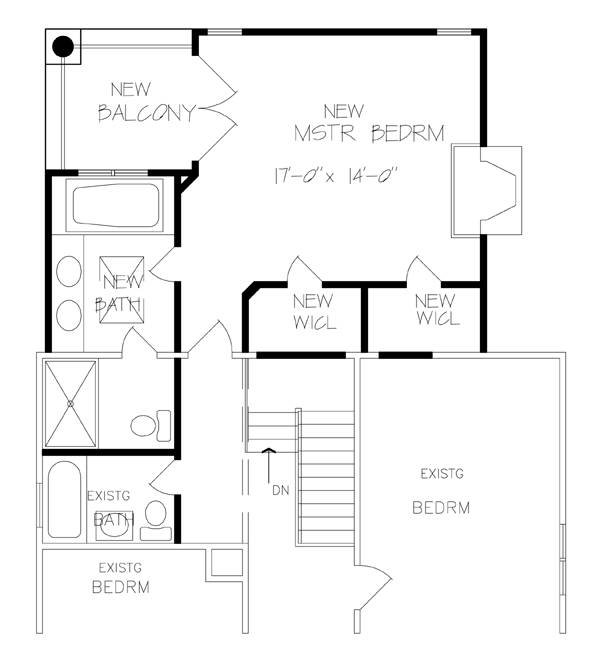 New family room master suite kfbr3 6236 the house for Great room addition off kitchen