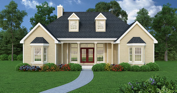 Affordable Ranch 4676 - 3 Bedrooms and 2.5 Baths | The House Designers