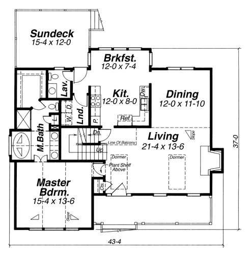 Lancaster 5834 3 bedrooms and 2 baths the house designers first floor malvernweather Gallery