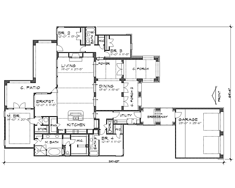 Floor Plan image of The Alhambra House Plan