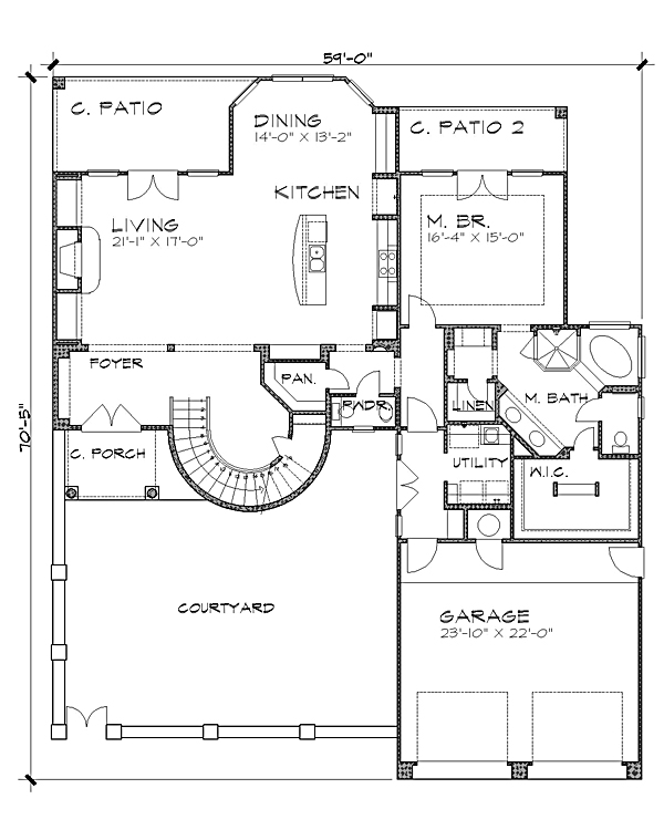 Floor Plan image of The Aliante House Plan
