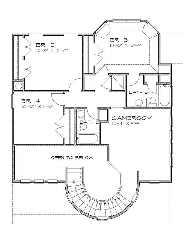 2nd floor image of The Aliante House Plan