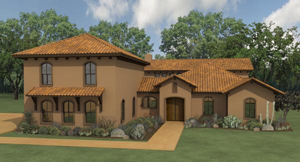 La hacienda 4258 4 bedrooms and 3 baths the house for Hacienda style home plans