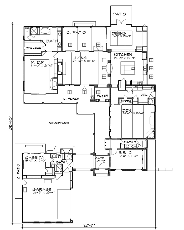 House plans with detached casitas for House plans with casita