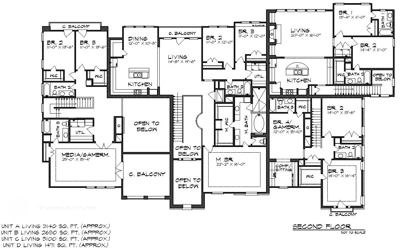 The Gallery For Tuscan House Floor Plans