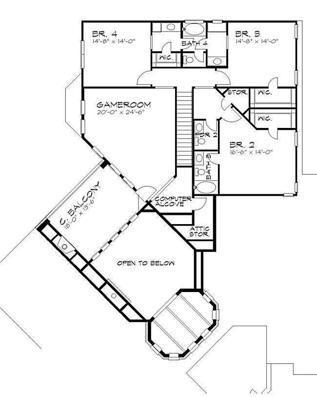 Cul De Sac Floor Plans Vista Montagna 4442 4 Bedrooms