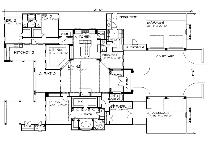 The Verona 4252 4 Bedrooms And 3 Baths House Designers. House Plan Model   Arts